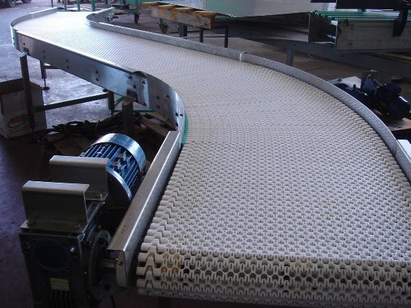 Конвейер модульный с модульной лентой