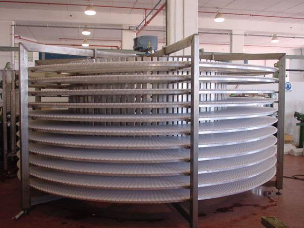 Конвейер спиральный с модульной лентой